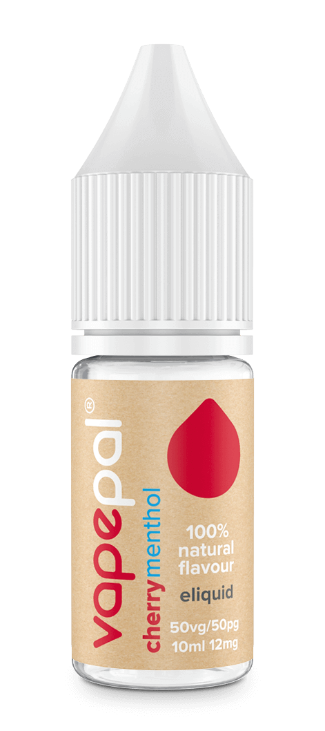 Cherry menthol e liquid. 100% natural cherry flavour and natural menthol extract.