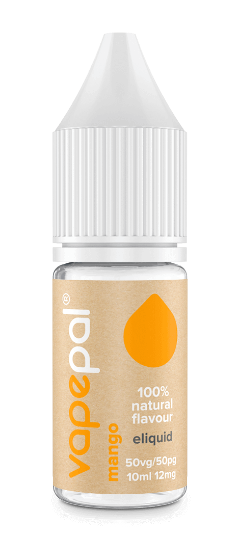 Mango e liquid. Made with 100% natural mango flavour