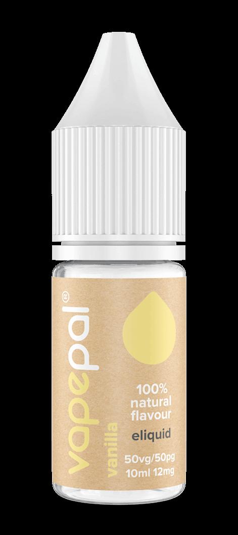 Vanilla e liquid. Made with natural vanilla extracted from real vanilla pods